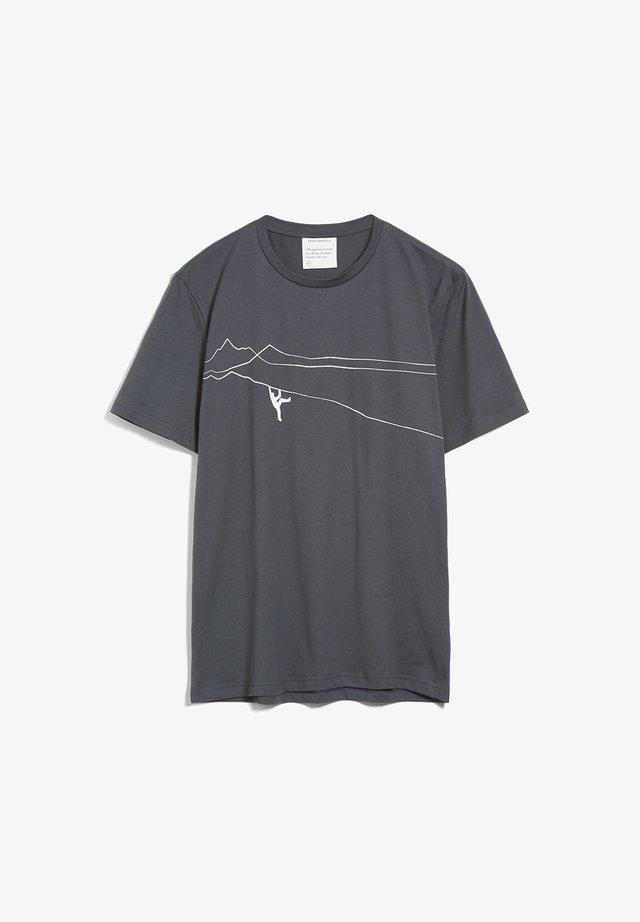 JAAMES MOUNTAIN CLIMBER  - Print T-shirt - acid black