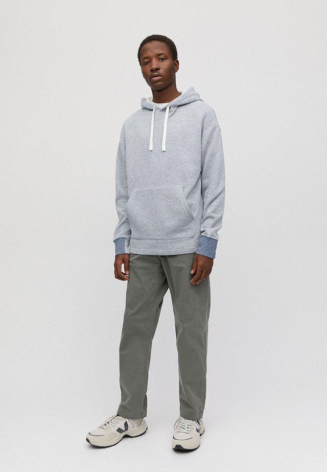 Hoodie - navy-off white