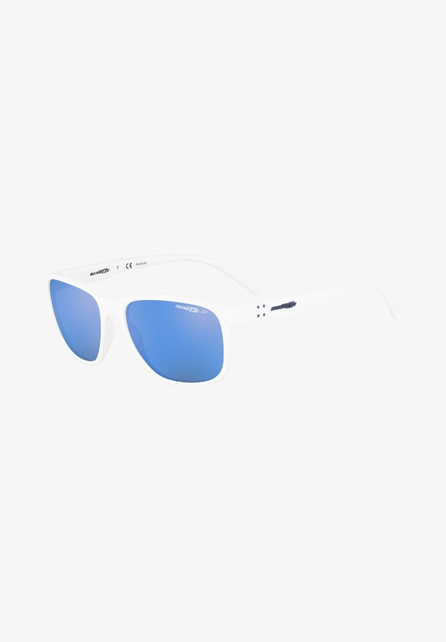 Sunglasses - matte white/blue