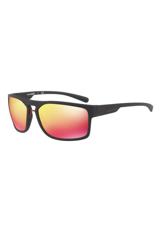 Sunglasses - matte black/red multilayer