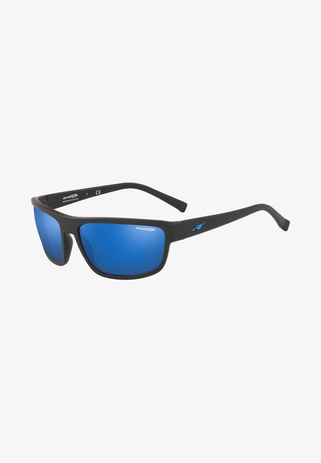 BORROW - Sunglasses - matte black/blue