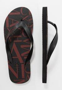 Armani Exchange - Pool shoes - black base/bordeaux - 1