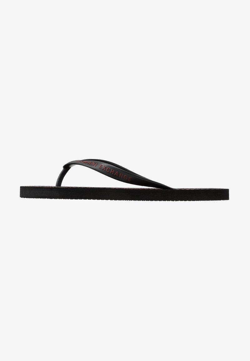Armani Exchange - Pool shoes - black base/bordeaux