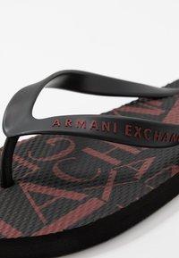 Armani Exchange - Pool shoes - black base/bordeaux - 5