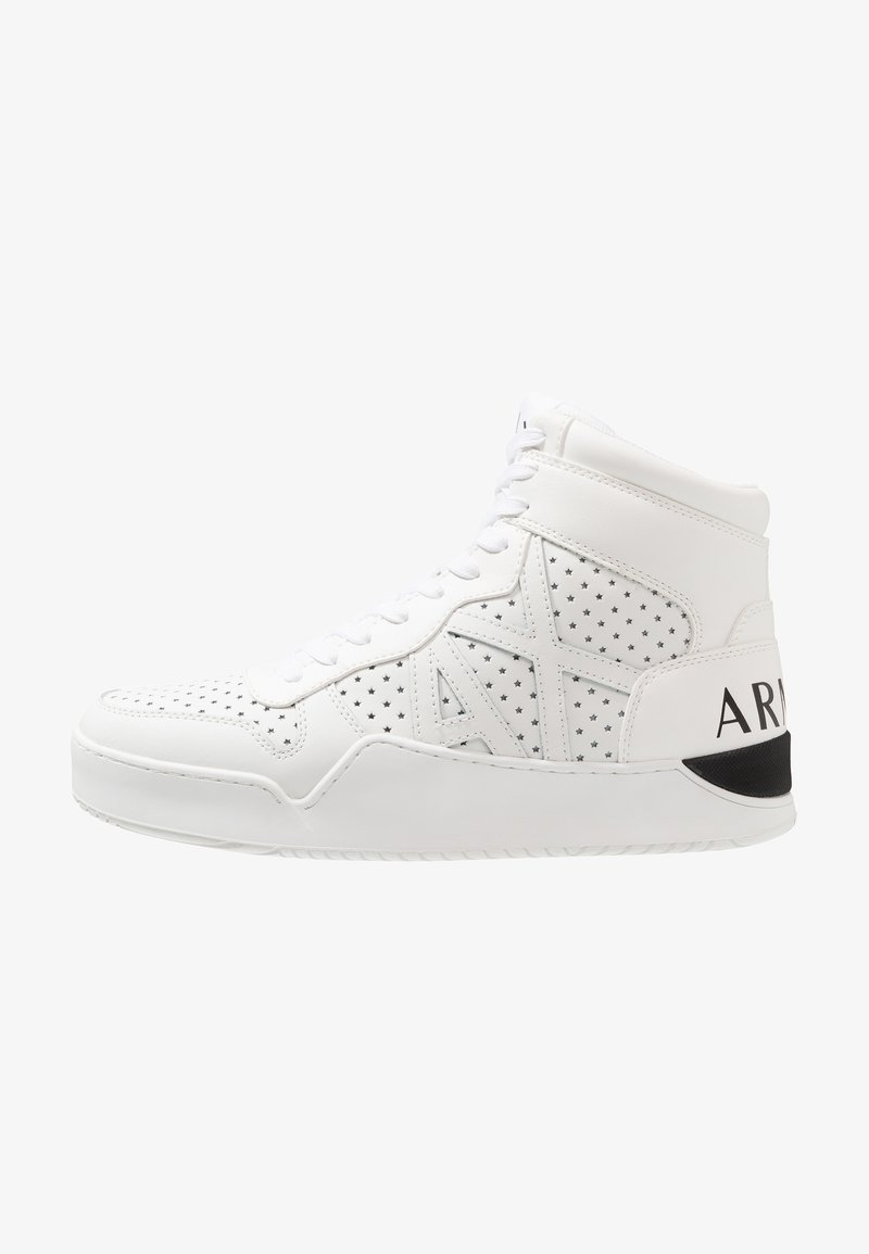 Armani Exchange - BASKET TOP - Korkeavartiset tennarit - white