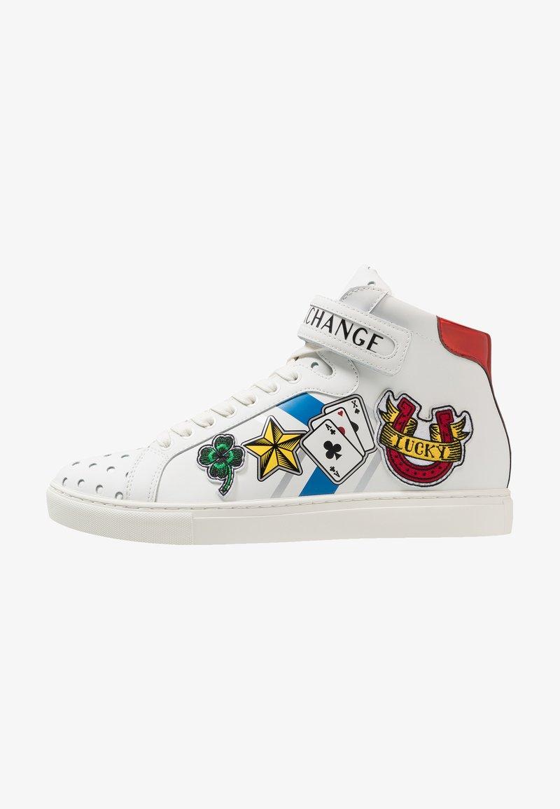 Armani Exchange - TATTOO TOP - Sneakers hoog - white/black