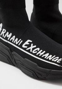 Armani Exchange - Sneakersy wysokie - black - 5