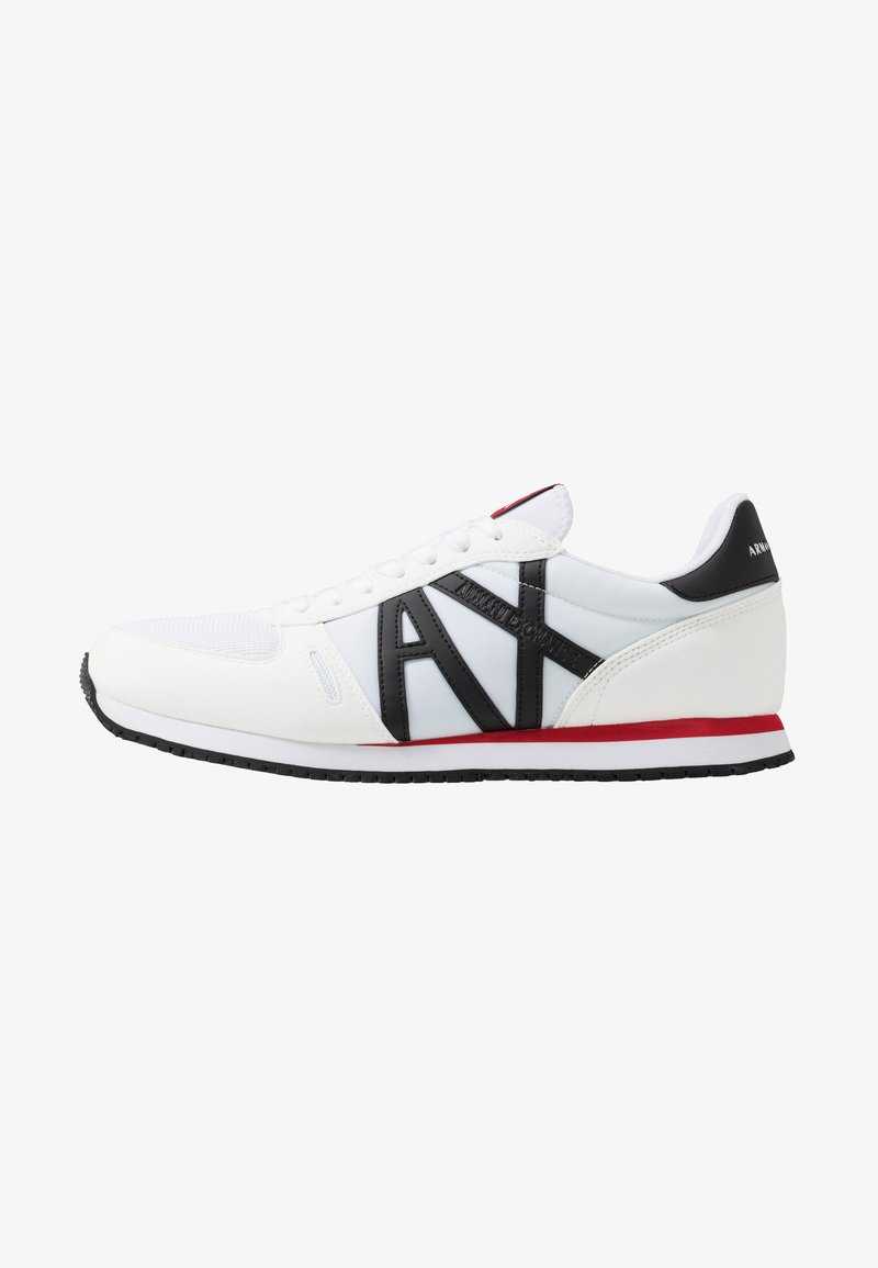 Armani Exchange - RETRO RUNNER - Sneakers laag - white/black/red