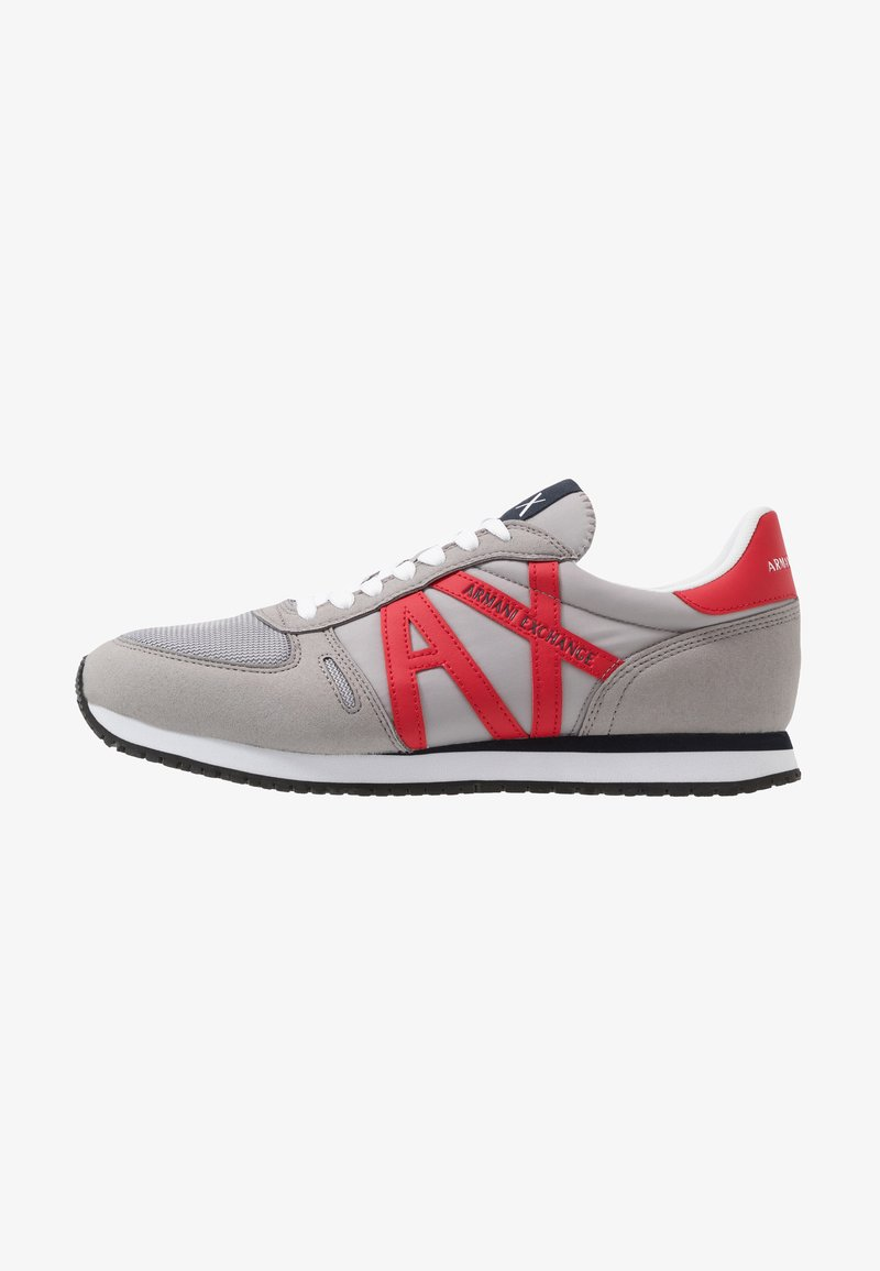 Armani Exchange - RETRO RUNNER - Matalavartiset tennarit - grey/red