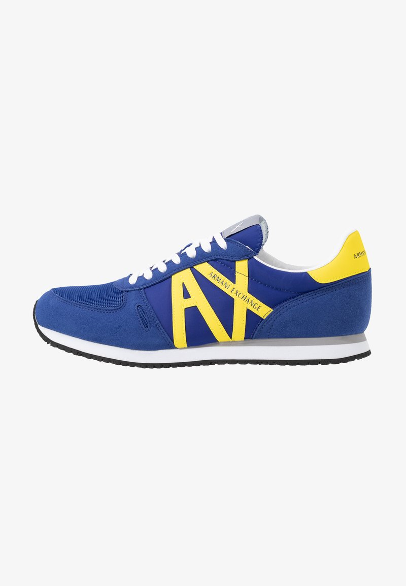 Armani Exchange - RETRO RUNNER - Trainers - blue/yellow