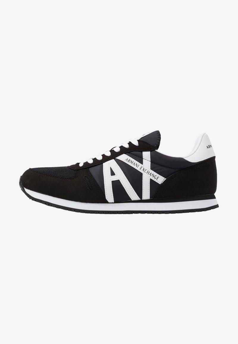 Armani Exchange - RETRO RUNNER - Sneakersy niskie - black/white
