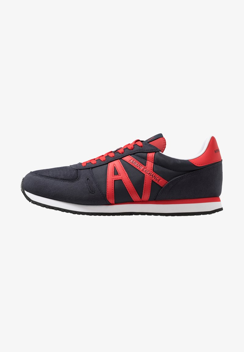 Armani Exchange - RUNNER - Sneakers laag - navy/red