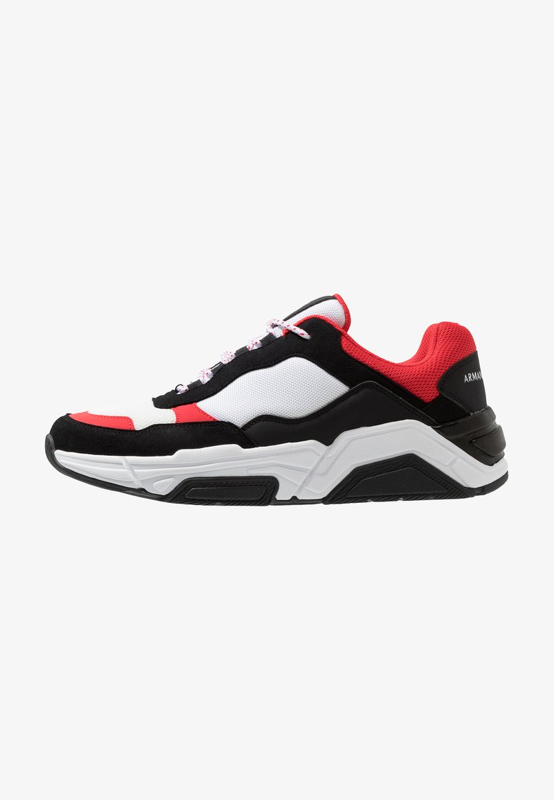 Armani Exchange - CHUNK LACE - Trainers - black/red