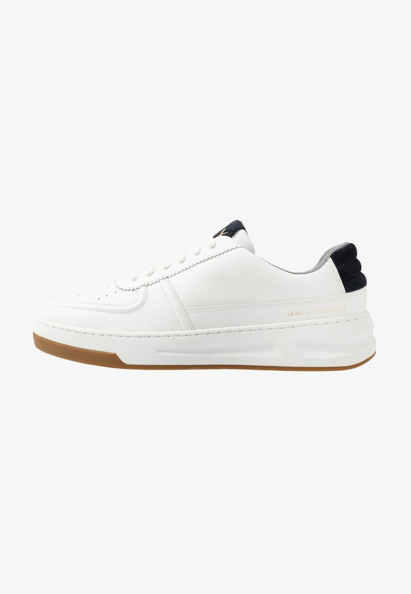 Armani Exchange - CHUNKY TENNIS - Trainers - white/navy