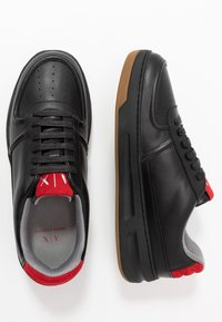 Armani Exchange - CHUNKY TENNIS - Trainers - black/red - 1