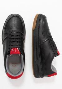 Armani Exchange - CHUNKY TENNIS - Sneakers - black/red - 1