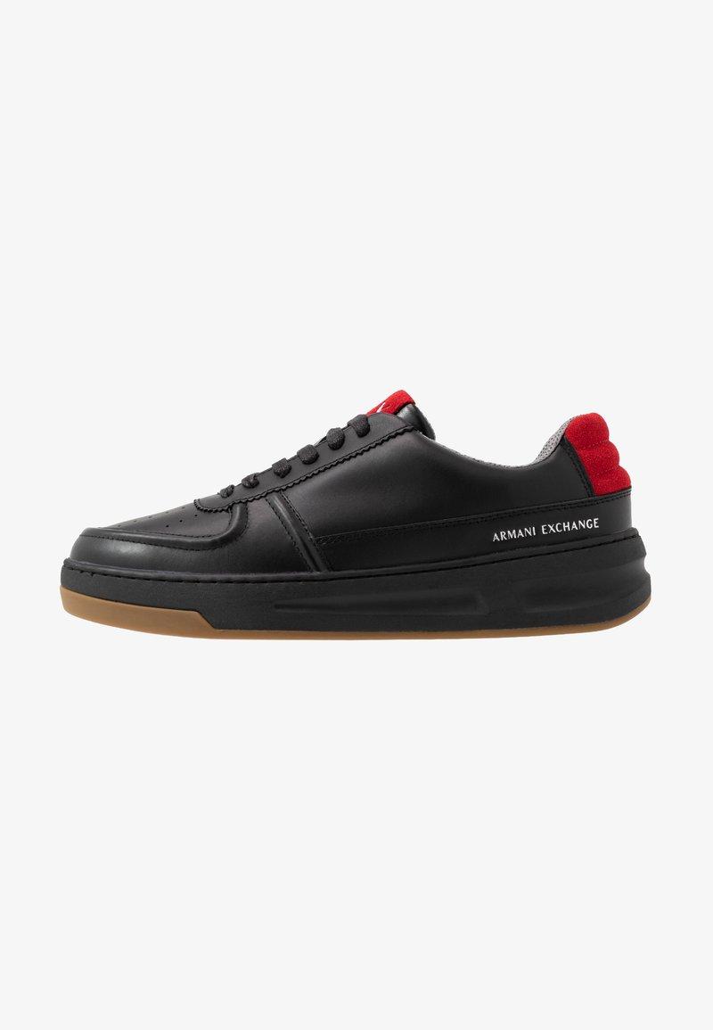Armani Exchange - CHUNKY TENNIS - Sneakers - black/red