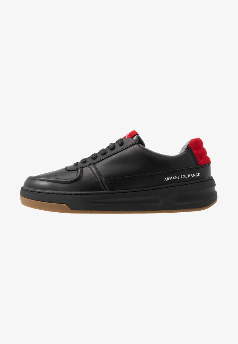 Armani Exchange - CHUNKY TENNIS - Sneaker low - black/red