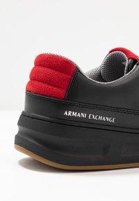 Armani Exchange - CHUNKY TENNIS - Sneakers - black/red - 5