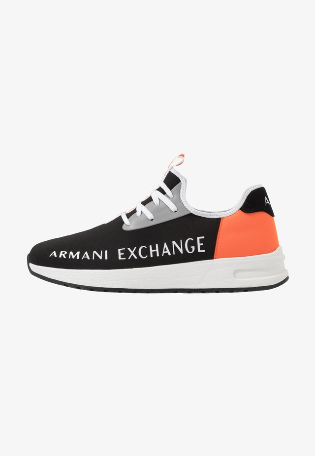 Sneakers - black/orange
