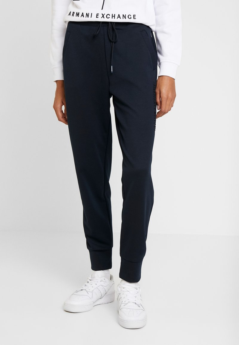Armani Exchange - TROUSER - Träningsbyxor - navy