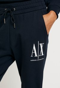 Armani Exchange - TROUSER - Tracksuit bottoms - navy - 4