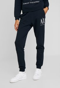 Armani Exchange - TROUSER - Tracksuit bottoms - navy - 0