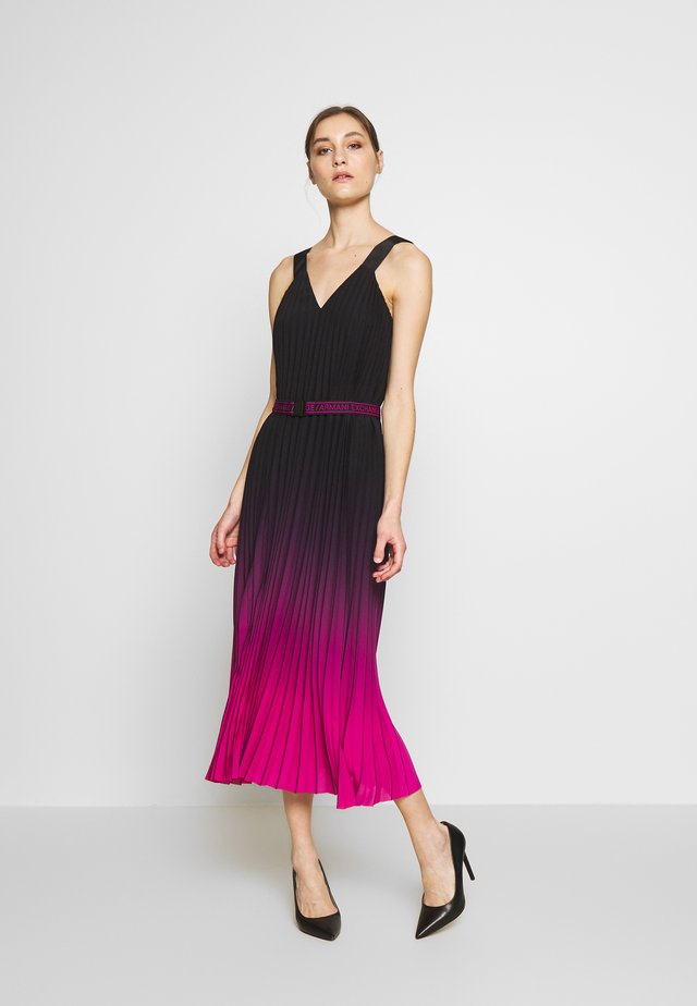 Korte jurk - black/fuchsia