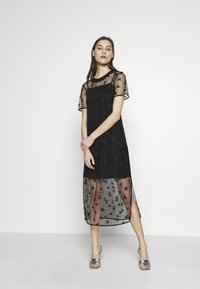 Armani Exchange - DRESS - Juhlamekko - black - 1