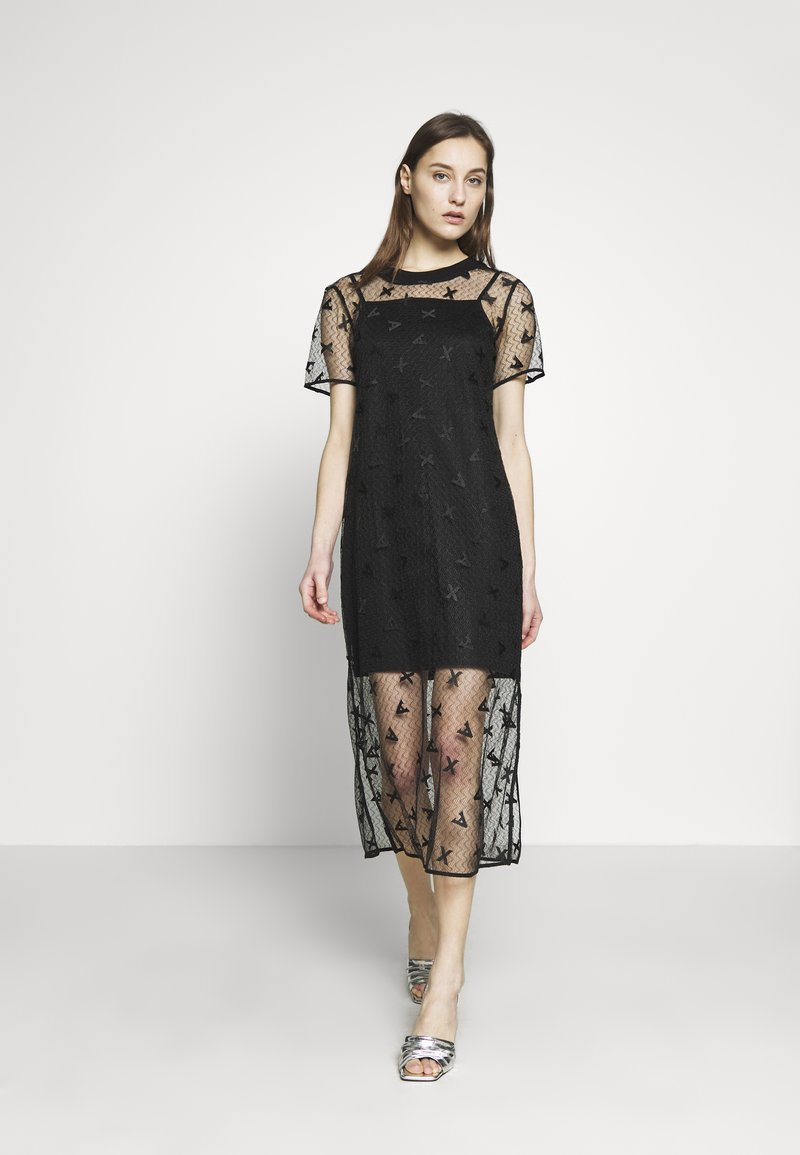Armani Exchange - DRESS - Juhlamekko - black