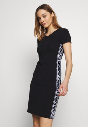 DRESS - Vestito di maglina - black
