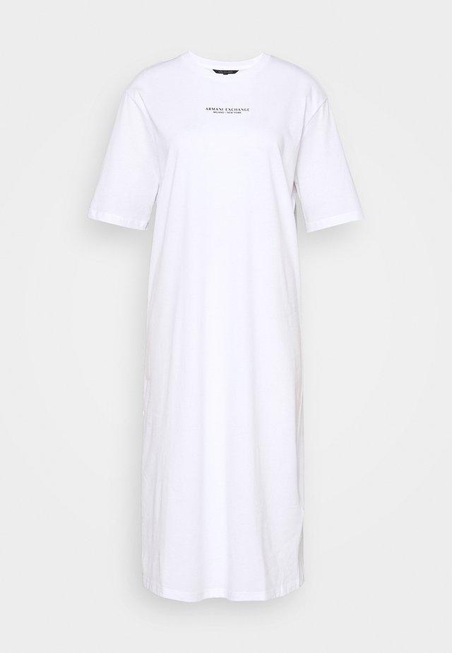 Sukienka z dżerseju - optic white