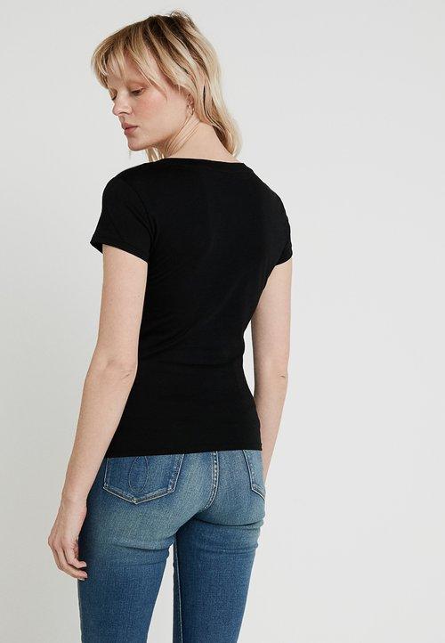 ekonomiczny Armani Exchange T-shirt z nadrukiem - black Koszulki i Topy NLWB-MZ6