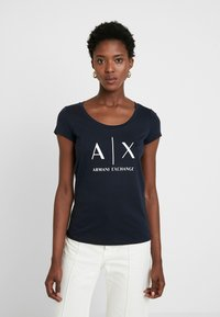 Armani Exchange - Print T-shirt - navy - 0
