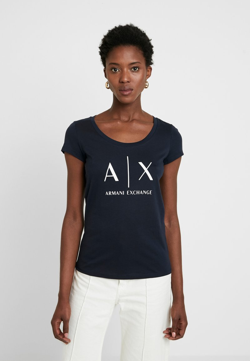 Armani Exchange - Print T-shirt - navy