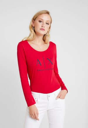 Long sleeved top - red liquorice