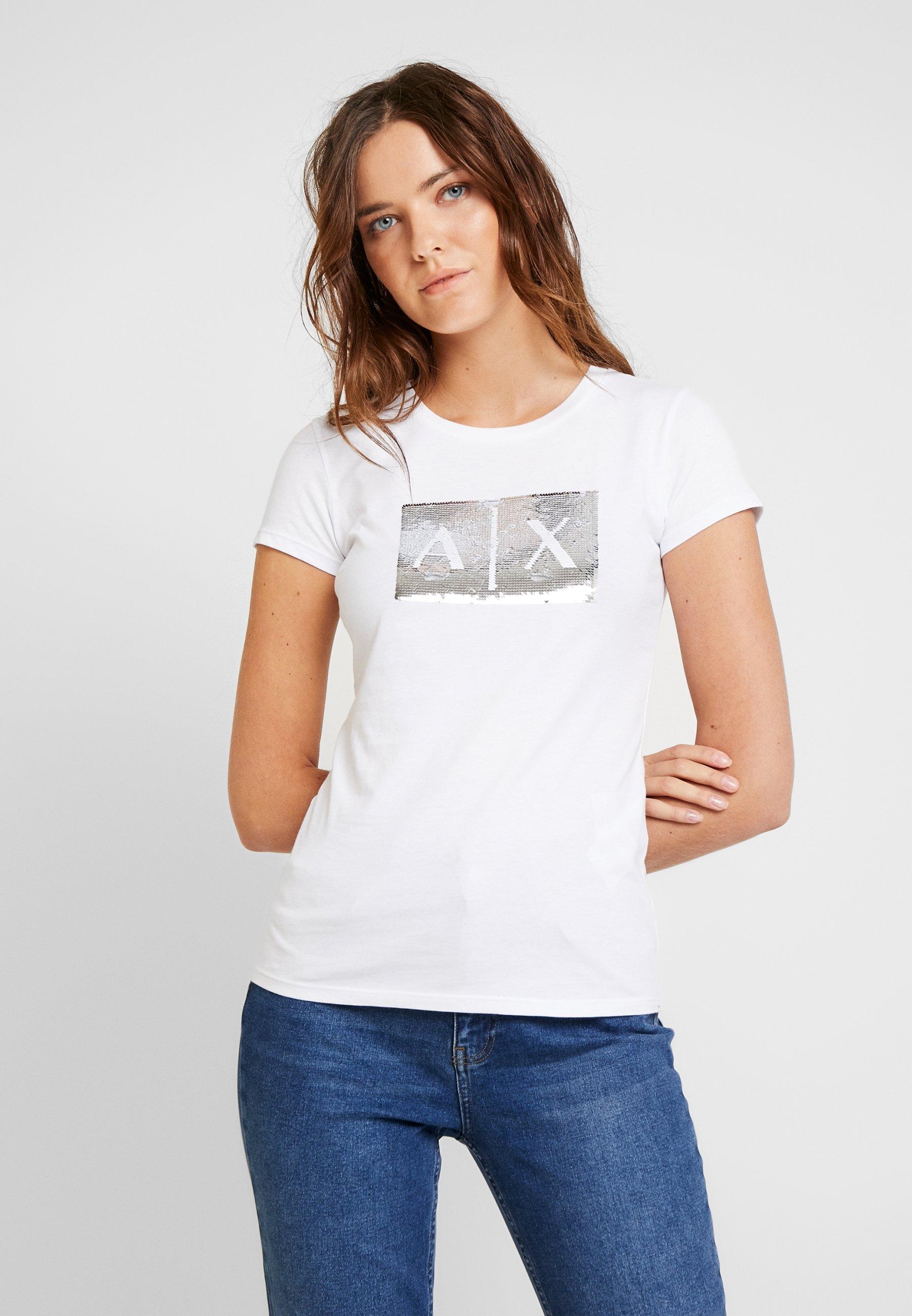 T Armani shirt ImpriméWhite Exchange Ground myv8n0wON