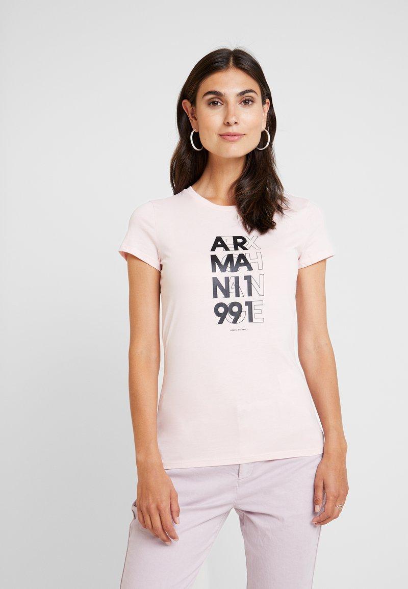Armani Exchange - CREW NECK REGULAR FIT - T-Shirt print - cotton candy