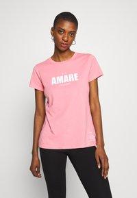 Armani Exchange - T-shirt print - rose amare - 0