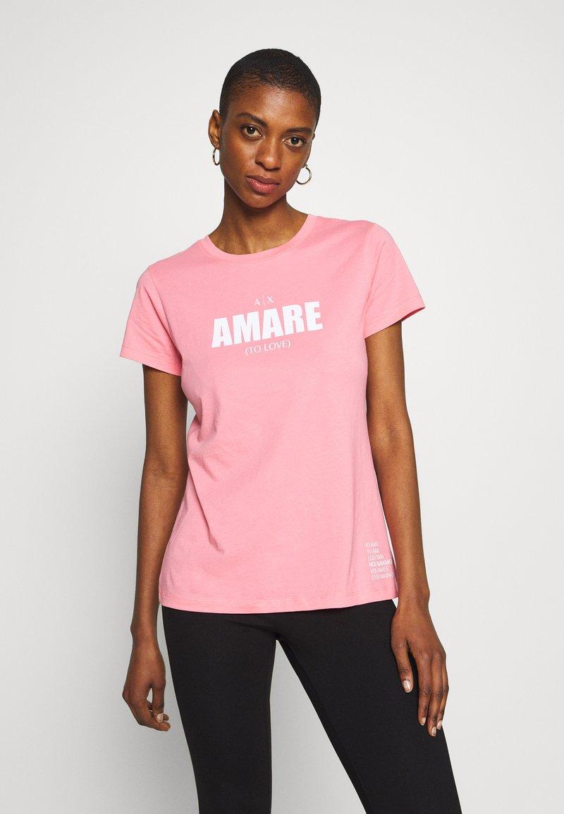Armani Exchange - T-shirt print - rose amare
