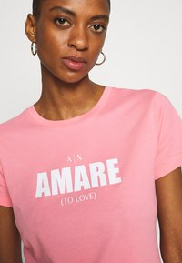 Armani Exchange - T-shirt print - rose amare - 5