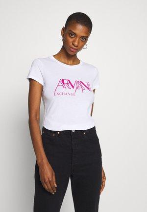 GRAPHIC CREW - T-shirt imprimé - optic white