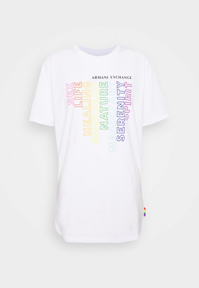 T-shirt imprimé - optic white