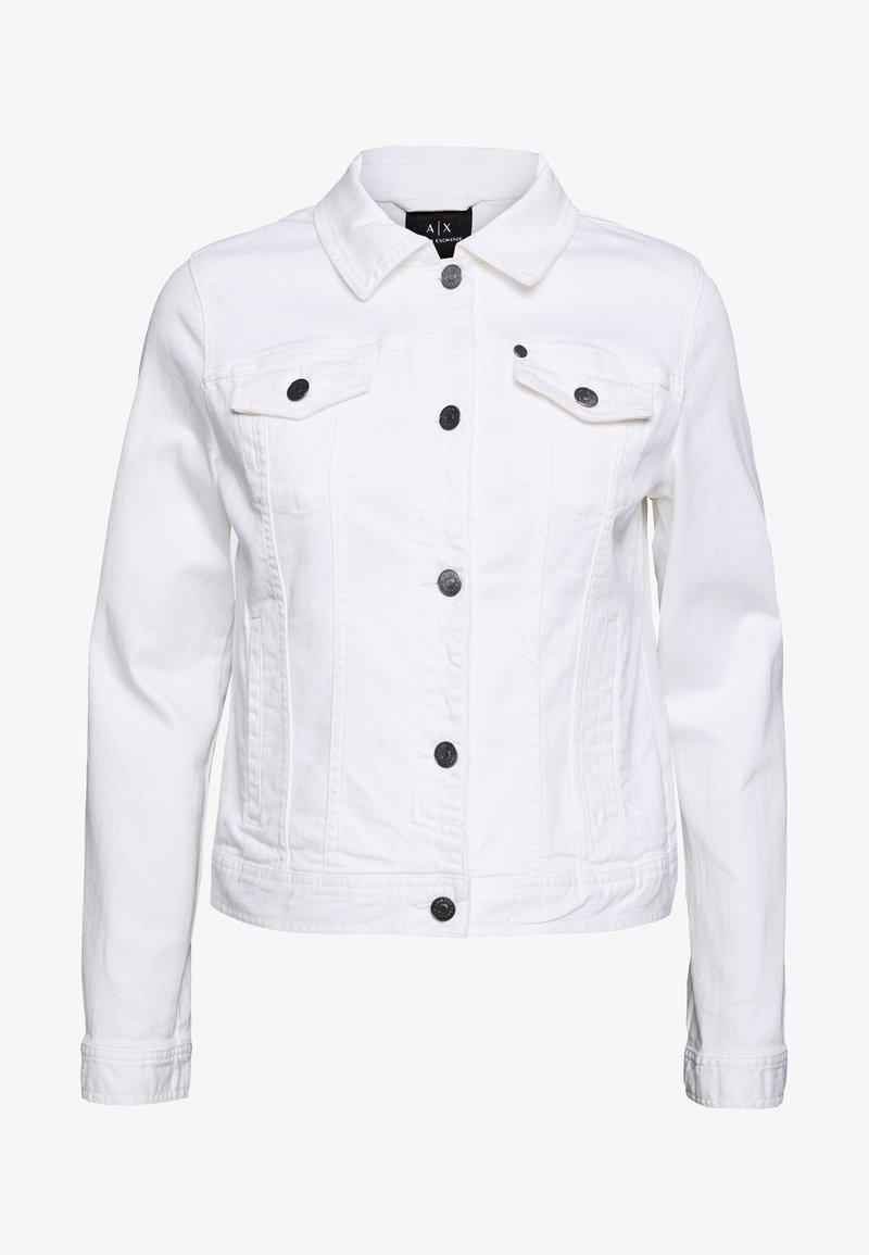 Armani Exchange - BLOUSON - Spijkerjas - white denim