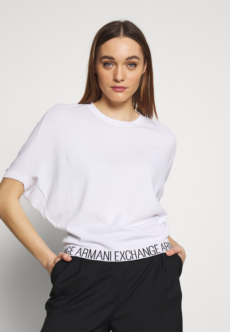 Armani Exchange - T-shirts med print - off white
