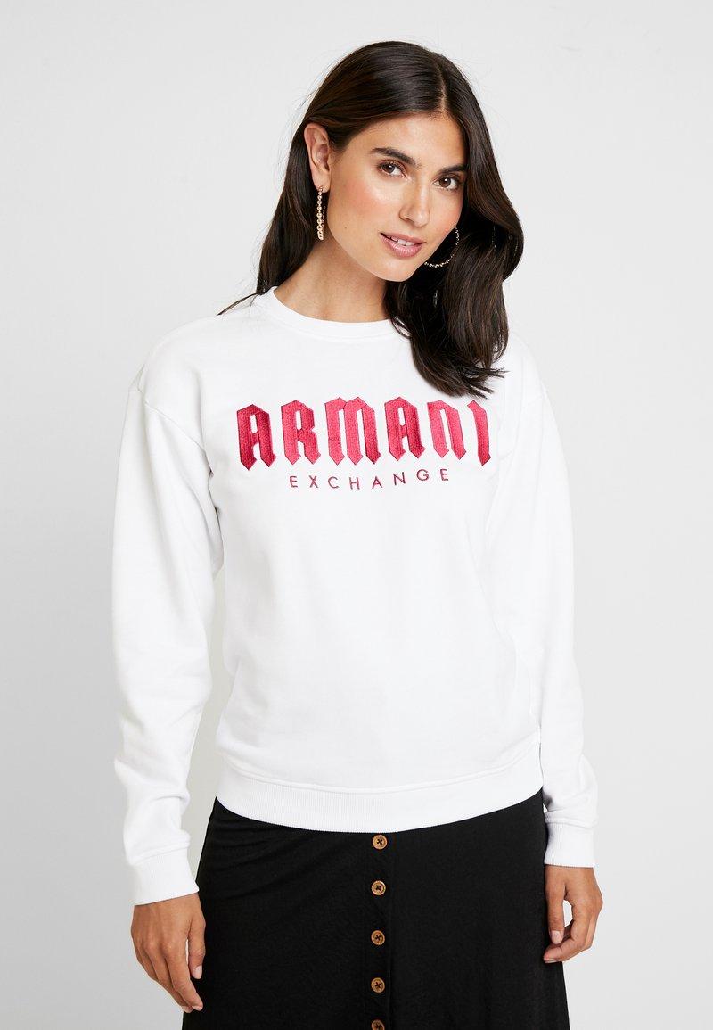 Armani Exchange - Sweatshirt - off white/rossana