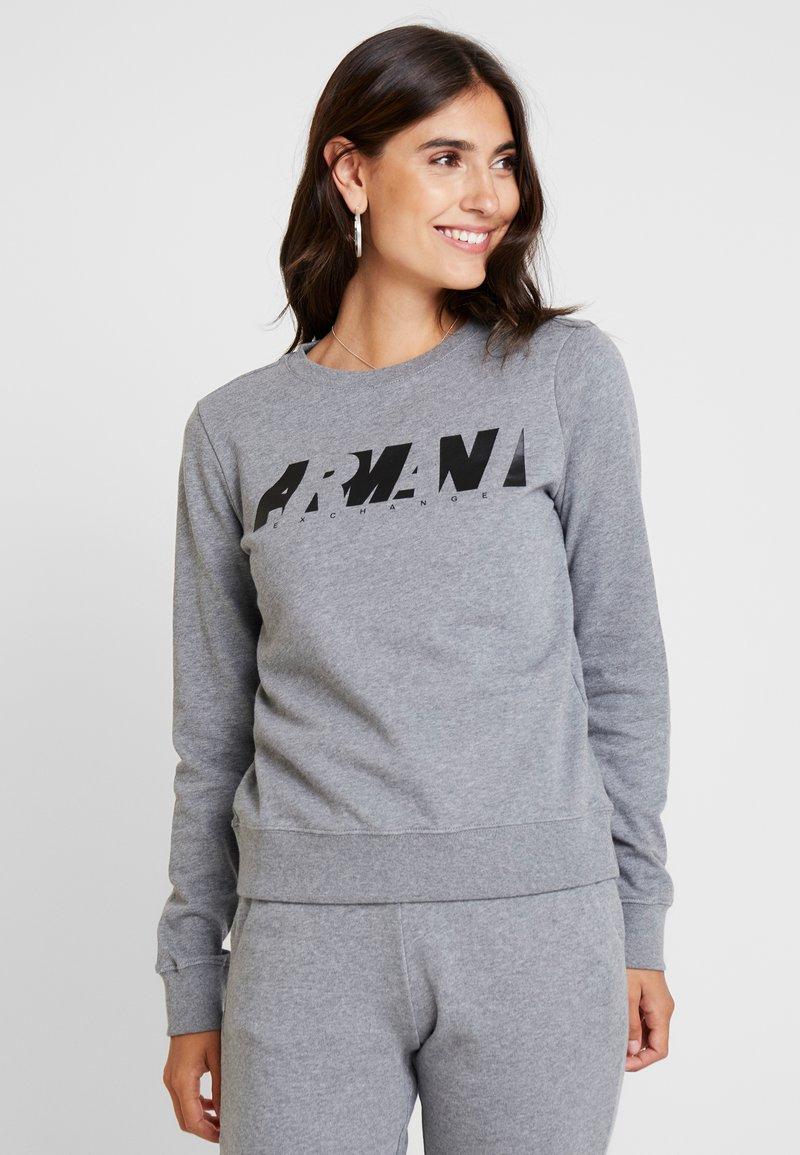 Armani Exchange - CREW NECK - Sweatshirt - grey