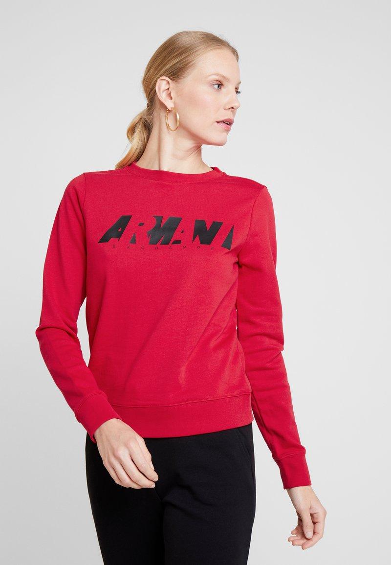 Armani Exchange - CREW NECK - Sweatshirt - red liquorice