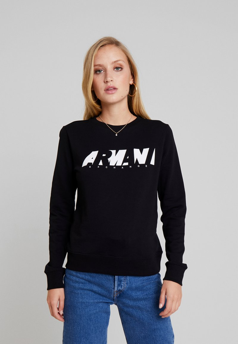 Armani Exchange - CREW NECK - Sweatshirt - black