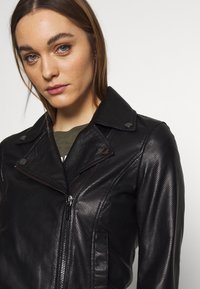 Armani Exchange - Veste en cuir - black - 3